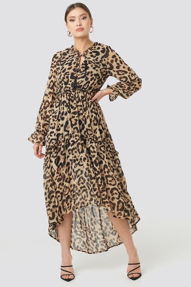 Alicia Leopard Gyspset Dress NA-KD.COM