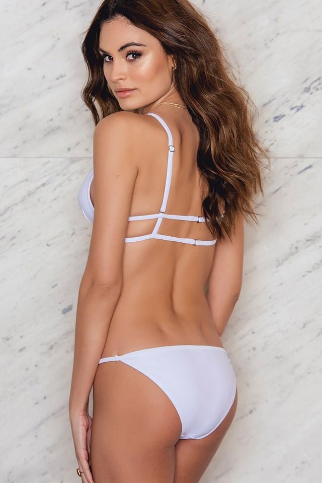 Cross Strapped Bikini Set – Bottom White