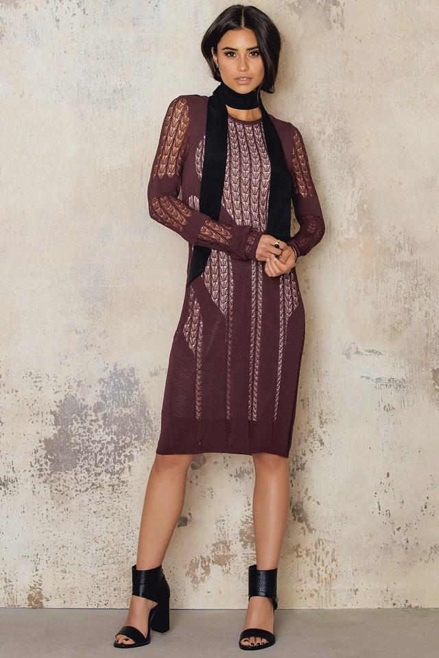 Elah Dress Burgundy