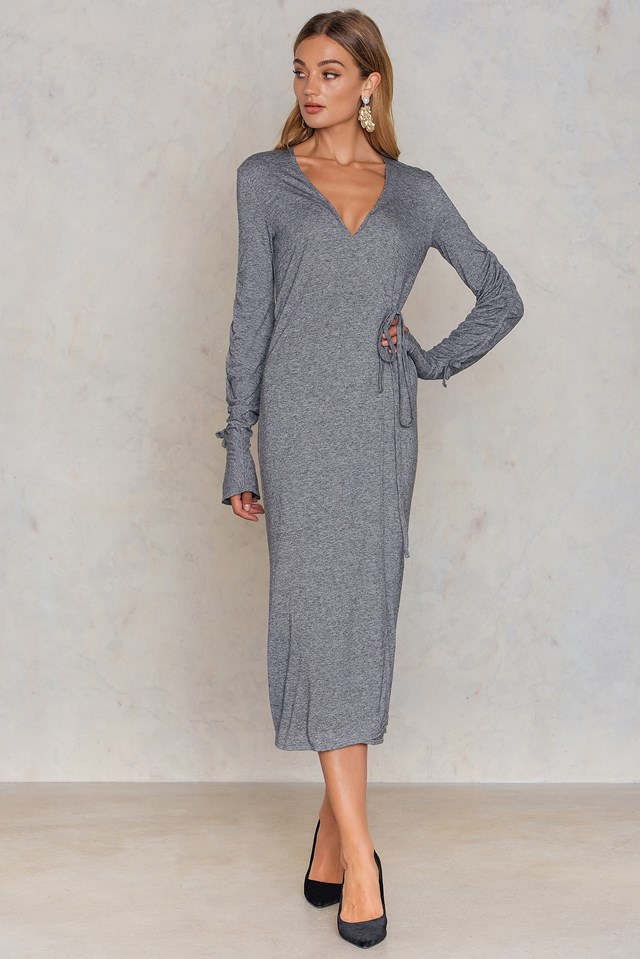 Justina Dress Grey Melange