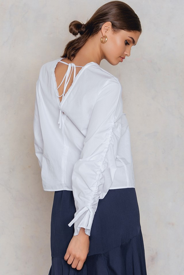 Mara Poplin Top White