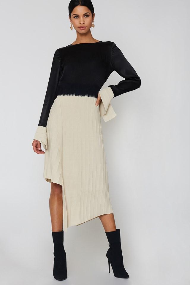 Nia Dress beige/Black