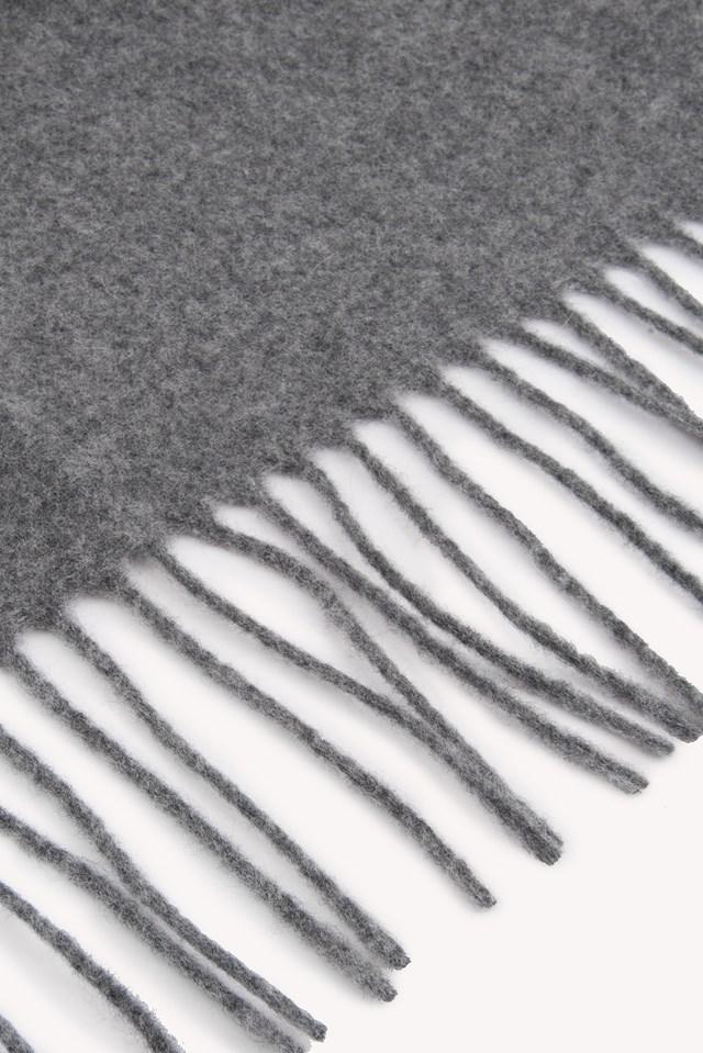 Woven Solid Scarf Grey Melange