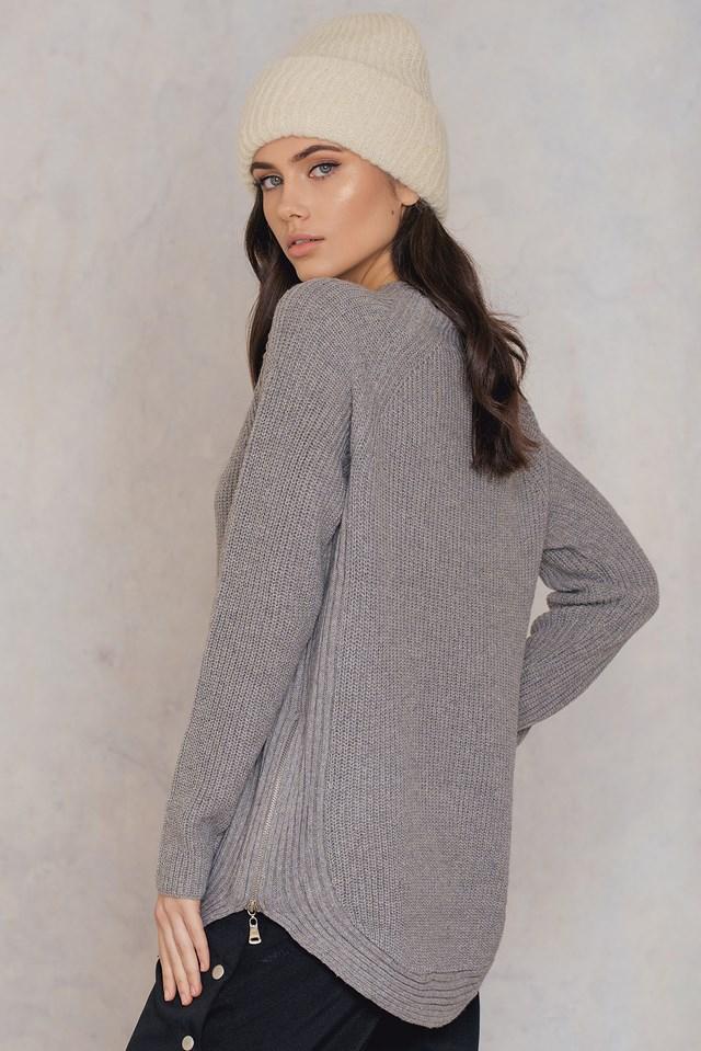 Mock Neck Sweater Grey