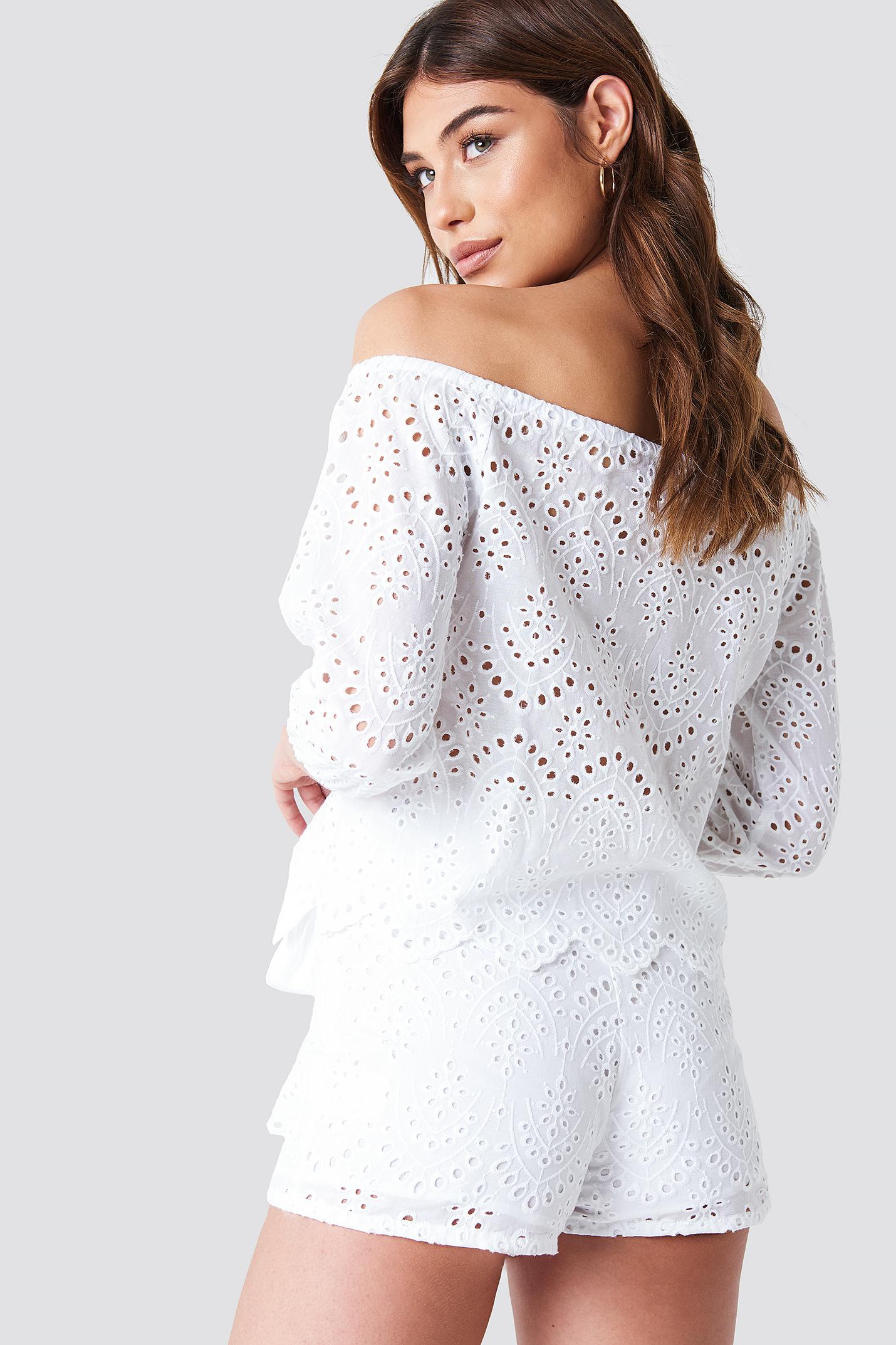 Crochet Off Shoulder Top NA-KD.COM