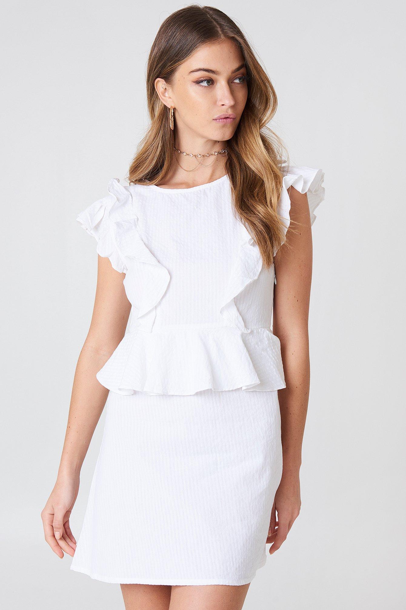 d03c4c1f0b2 Flounce Dress White
