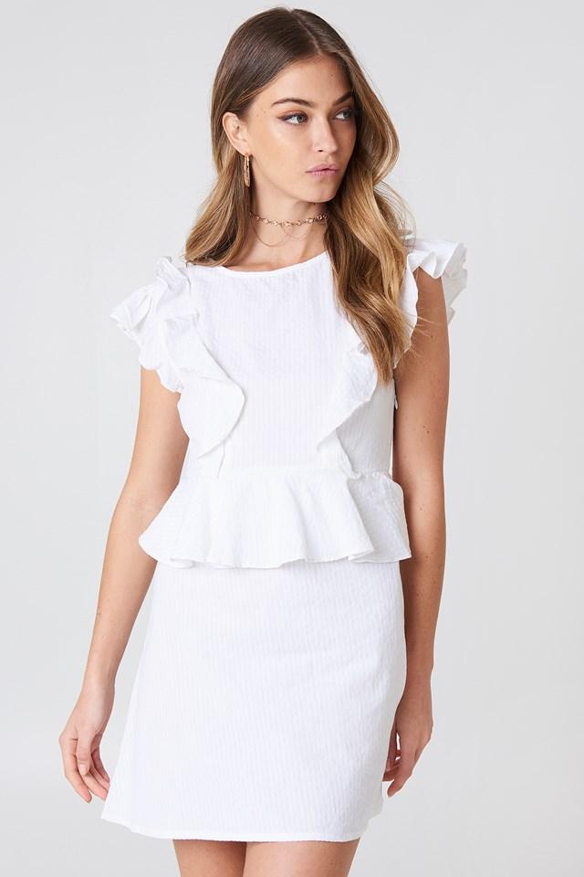 Sukienka z falbanką White