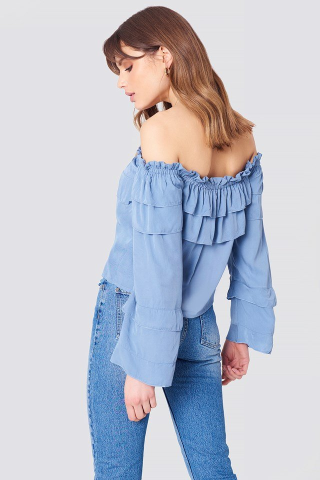 Layered Off Shoulder Top NA-KD.COM