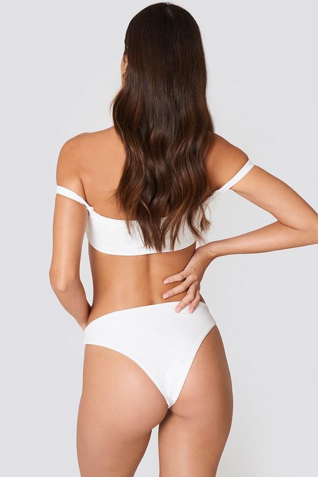 Mid Waist Bikini Pantie White