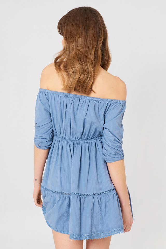 Off Shoulder Crochet Dress NA-KD.COM