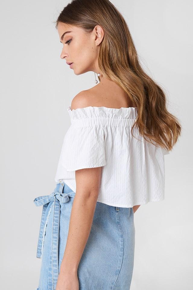 Off Shoulder Short Sleeve Top NA-KD.COM