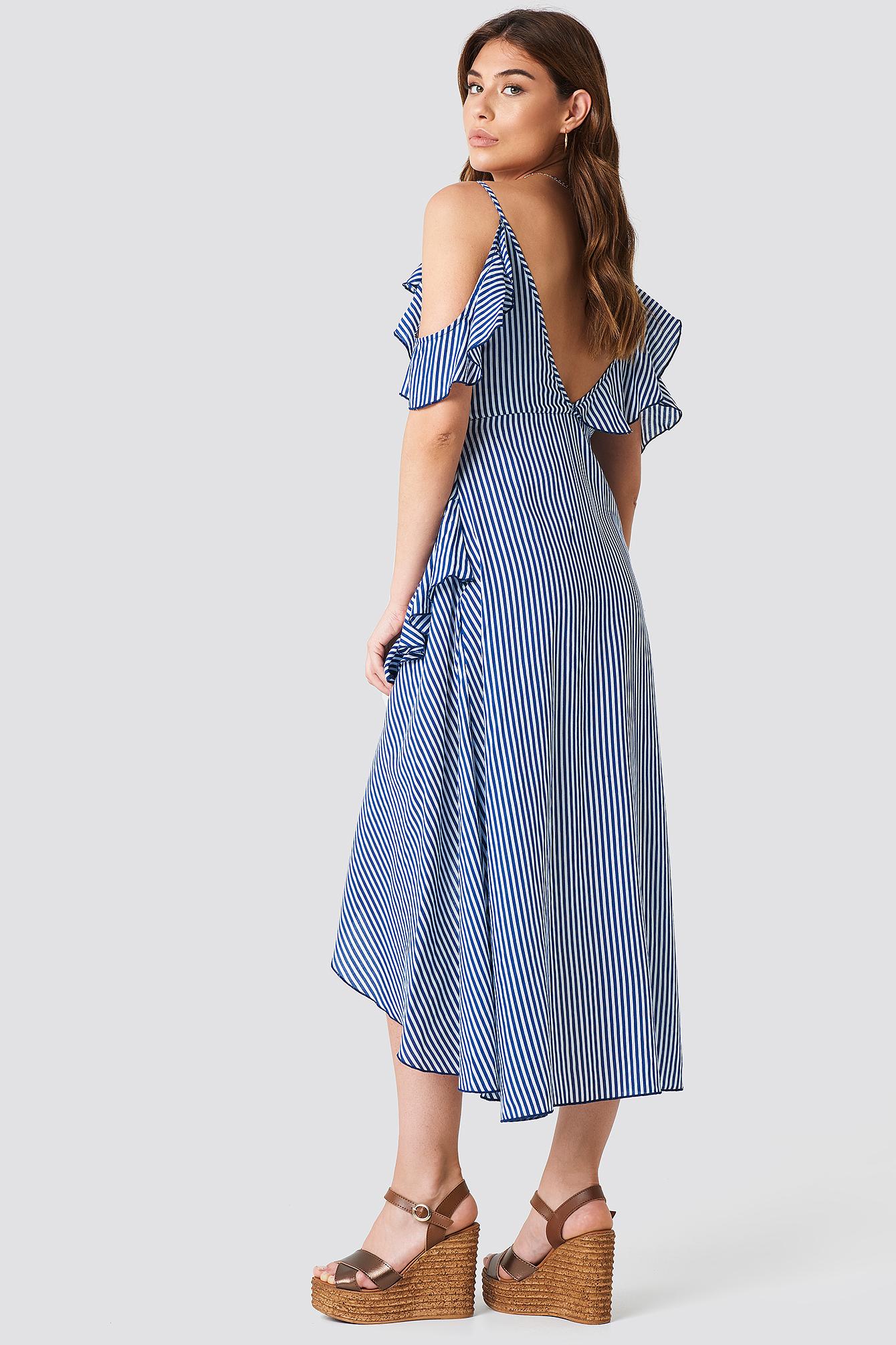 One Shoulder Frill Dress NA-KD.COM