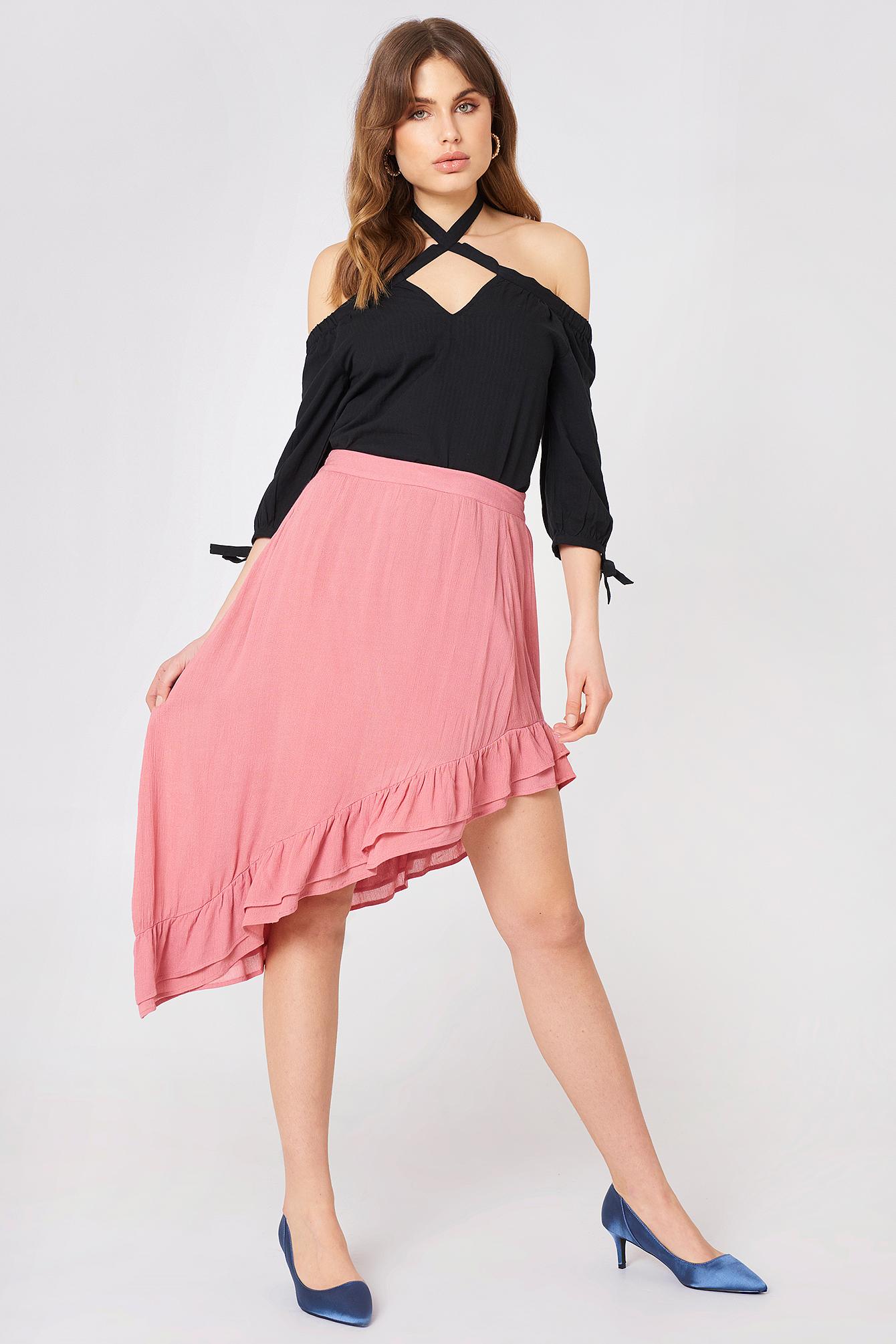 Side Slit Flounce Skirt NA-KD.COM
