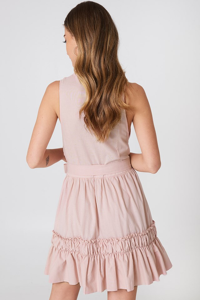 Sleeveless Front Tie Dress NA-KD.COM