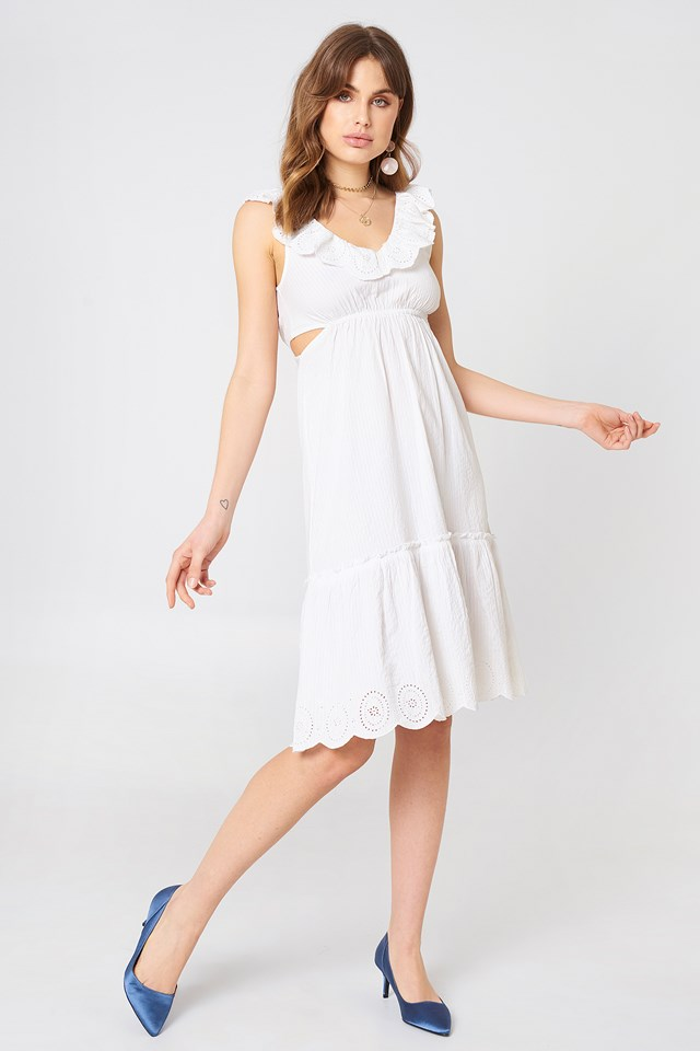 V Neck Cut Out Dress NA-KD.COM