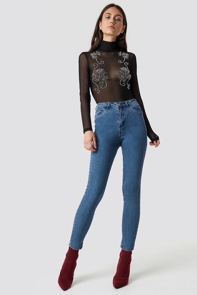 Basic Skinny Jeans Denim Blue