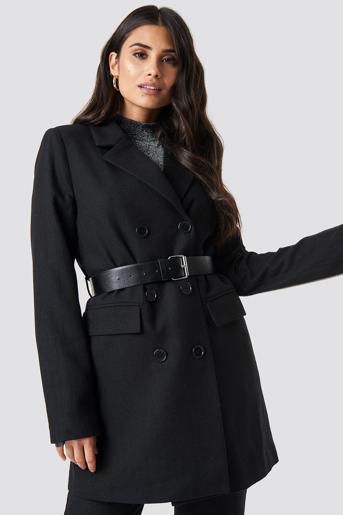 Belted Suit Jacket NA-KD.COM