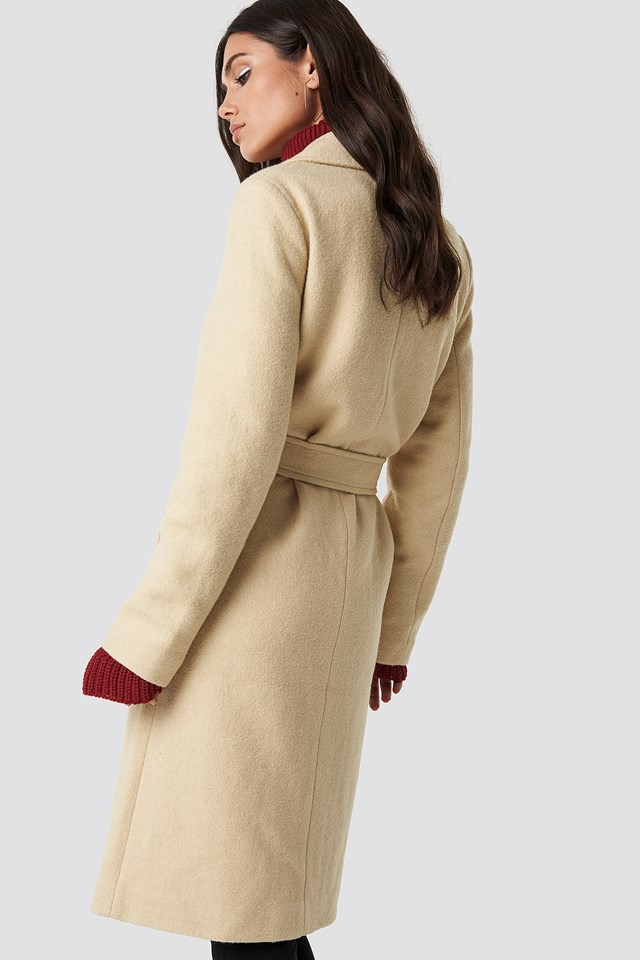 Classic Belted Coat Beige