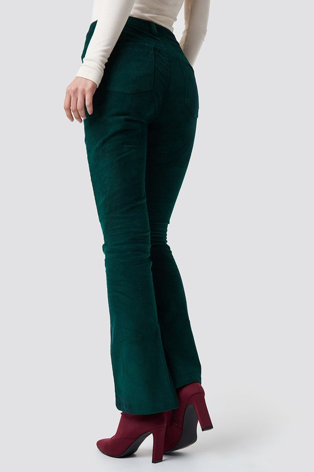 Corduroy Pants Dark Green