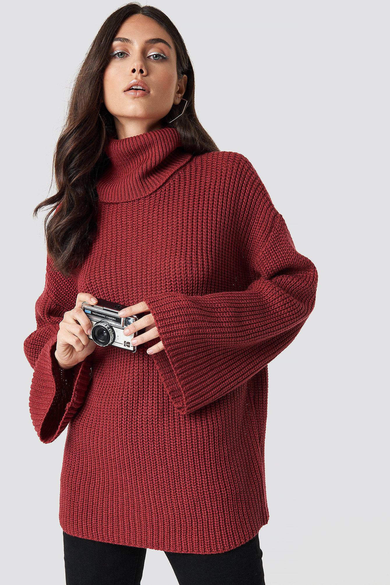 Przytulny sweter z golfem NA-KD.COM