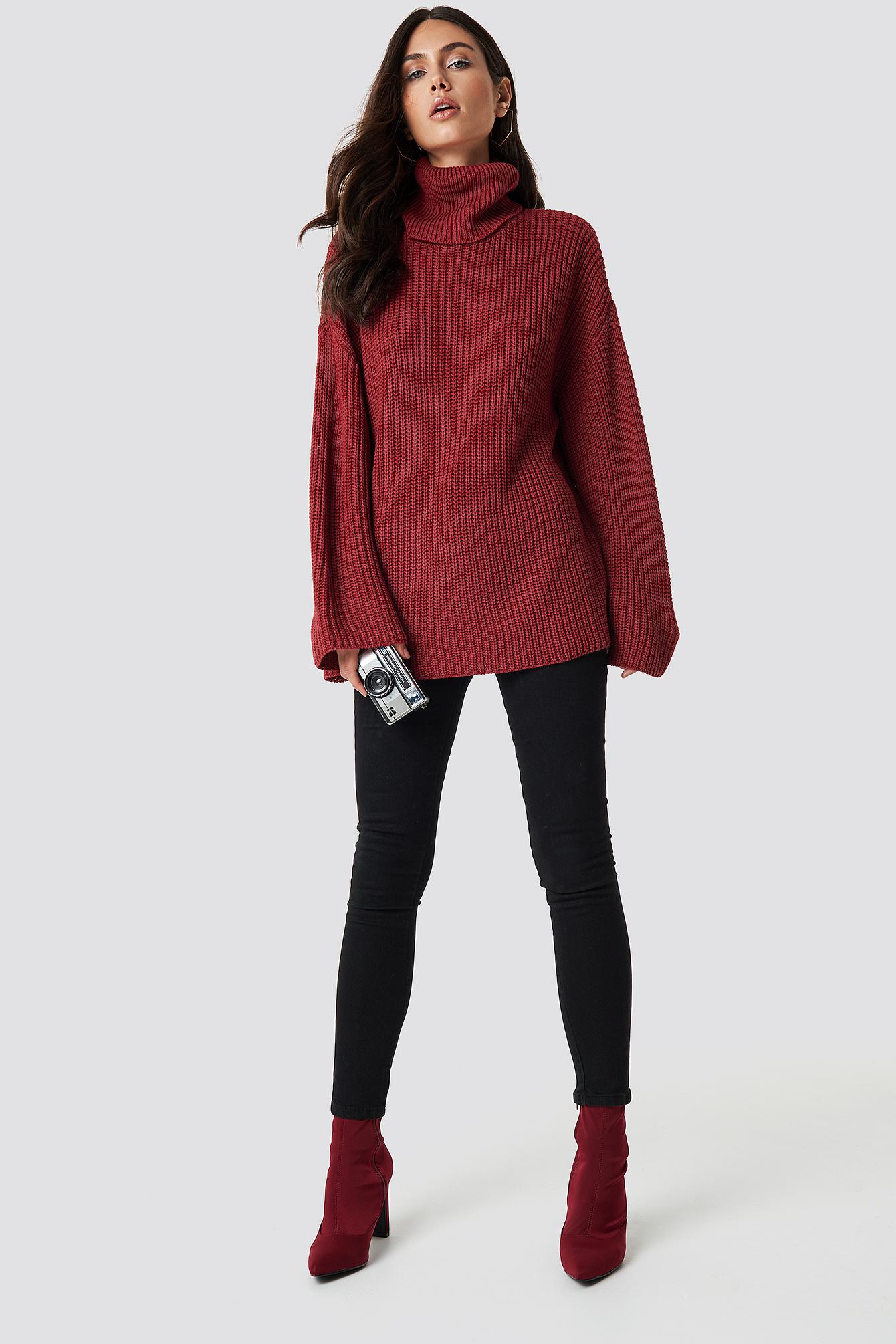 Cozy Polo Knit Sweater NA-KD.COM