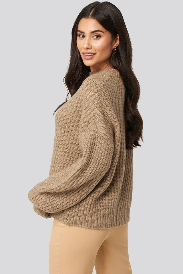 Dropped Shoulder Oversized Knitted Sweater Dilara x NA-KD