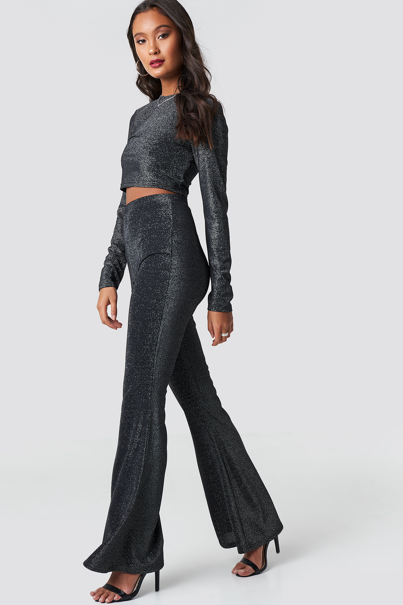 Flared Leg Glitter Pants NA-KD.COM