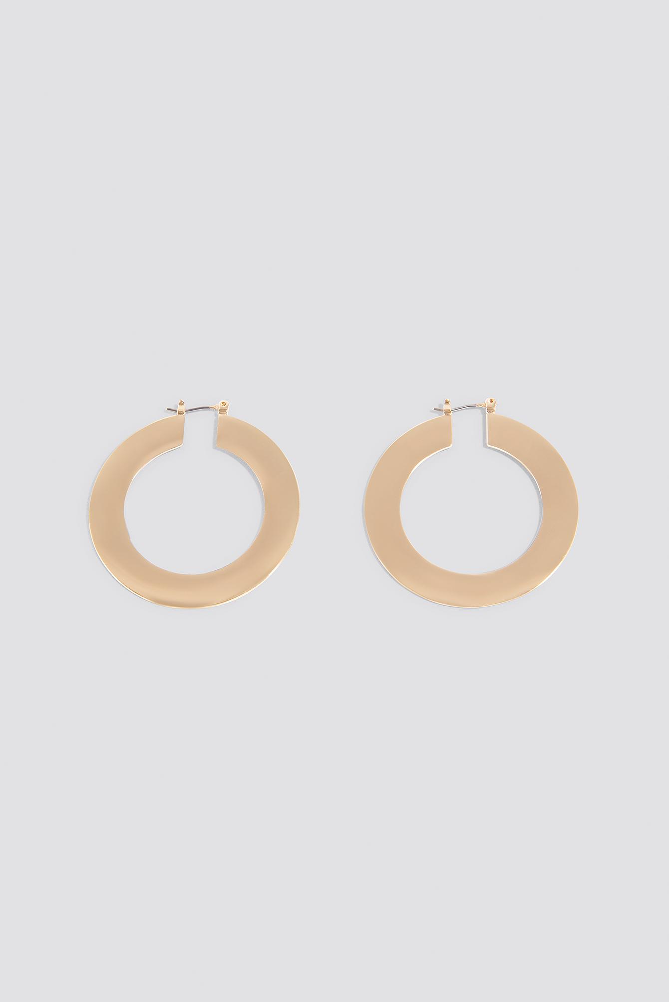 Flat Gold Hoop Earrings NA-KD.COM