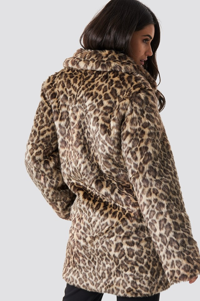 Fluffy Leo Jacket Leopard