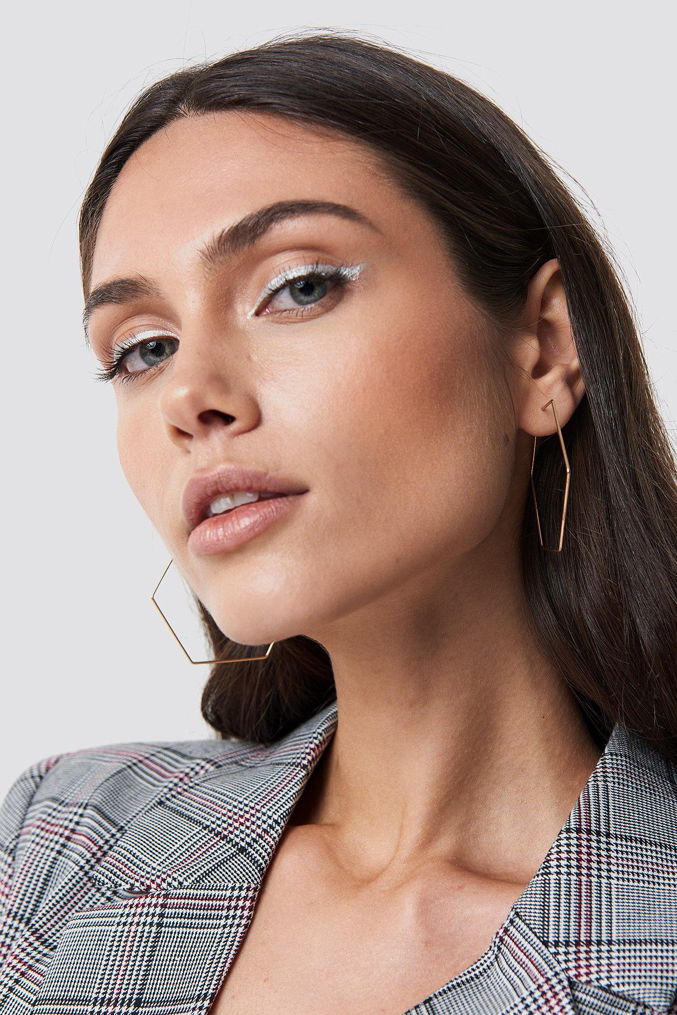 Hexagon Hoop Earrings NA-KD.COM