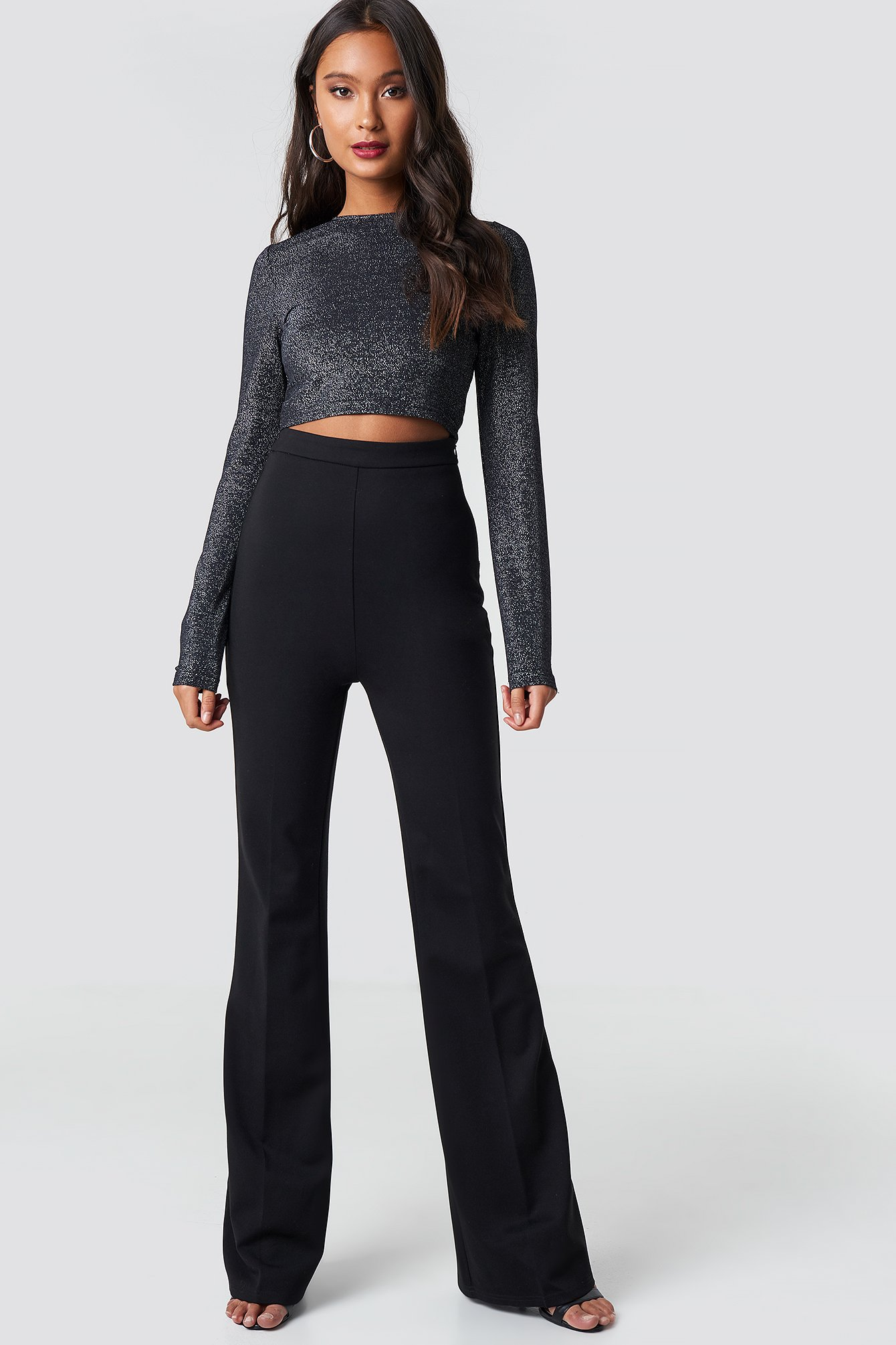 High Waisted Creased Pants Sort by Dilaraxnakd