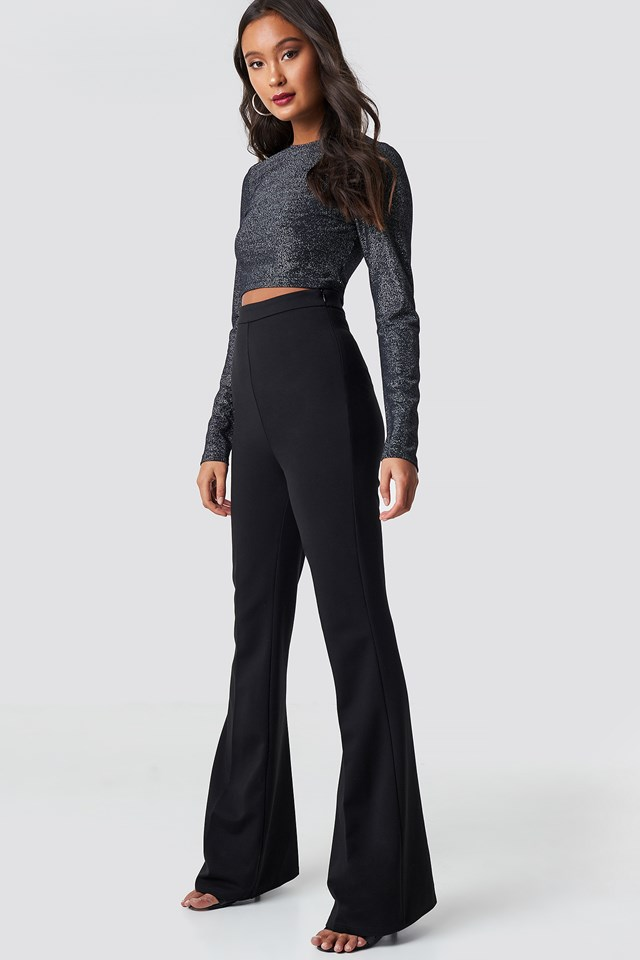 High Waisted Creased Pants NA-KD.COM