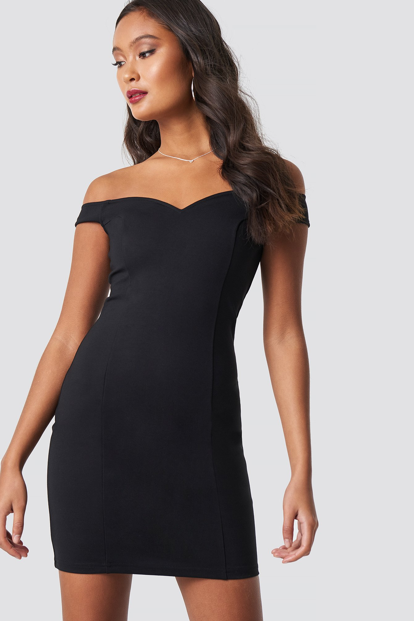 Slip Shoulder Bodycon Dress NA-KD.COM