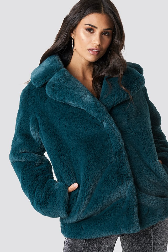 Soft Faux Fur Jacket NA-KD.COM