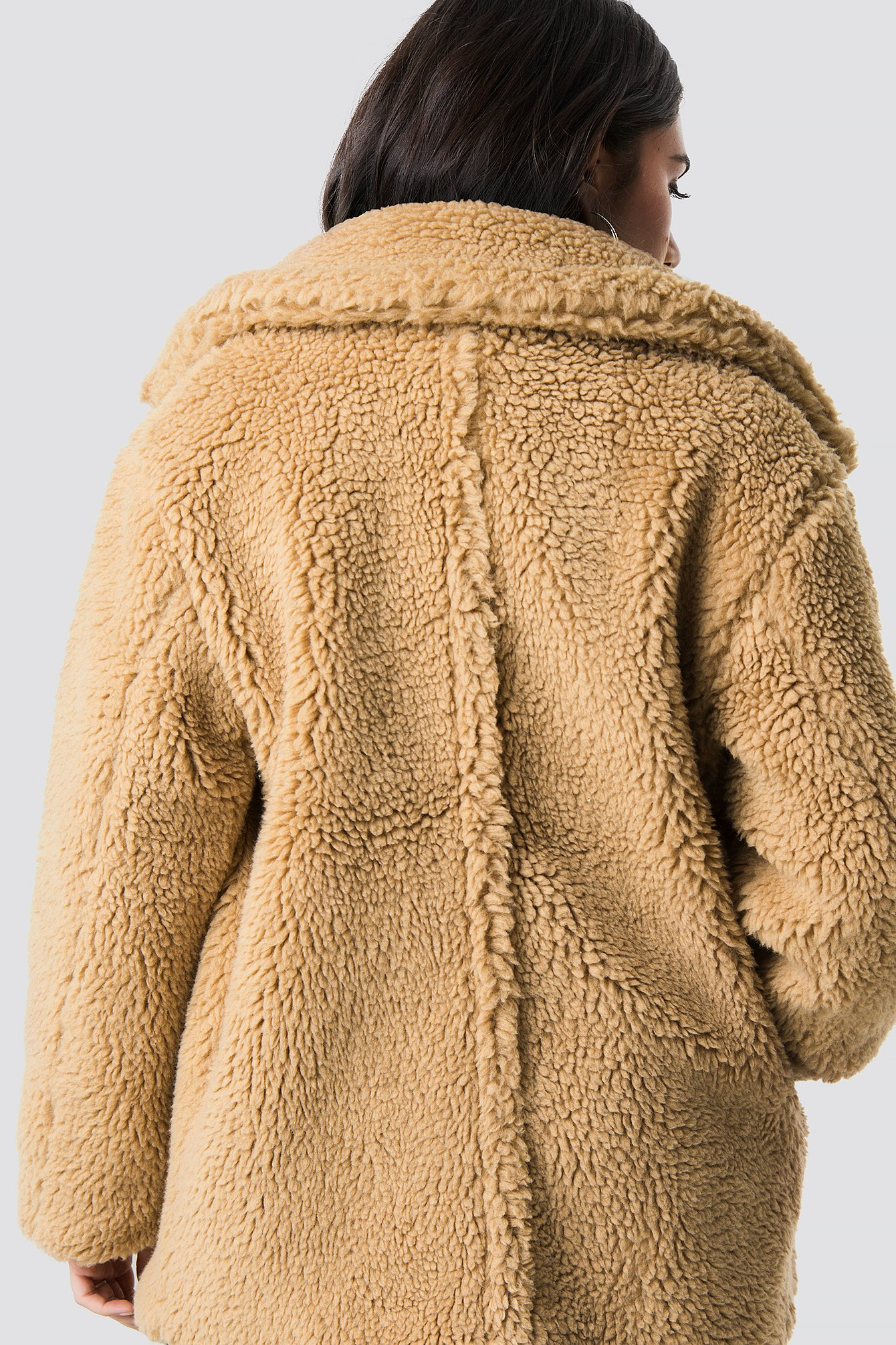 dilara x na-kd -  Soft Teddy Jacket - Brown