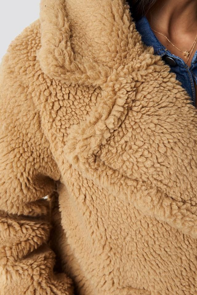 Soft Teddy Jacket Light Brown