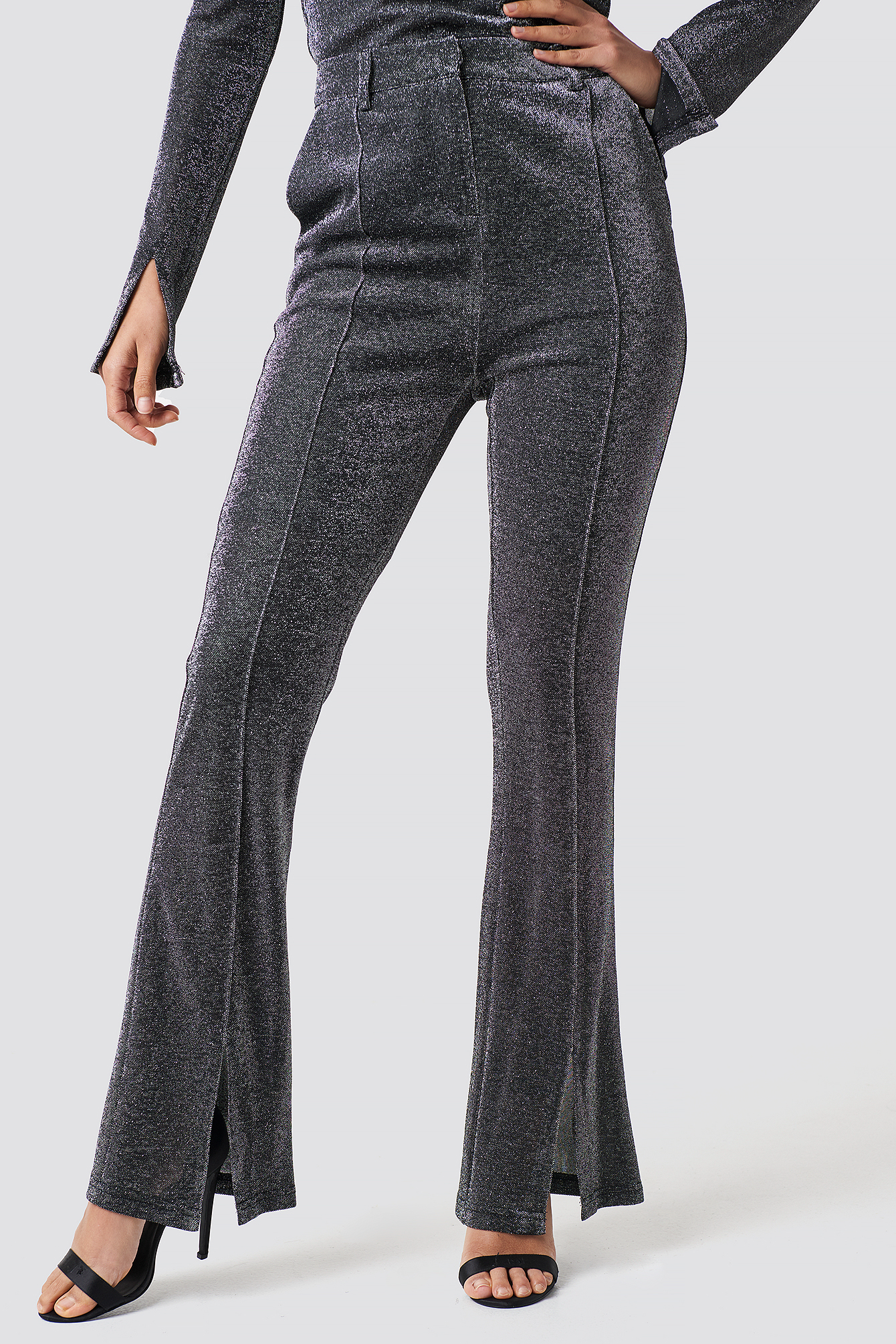 Sparkly Flared Pants NA-KD.COM