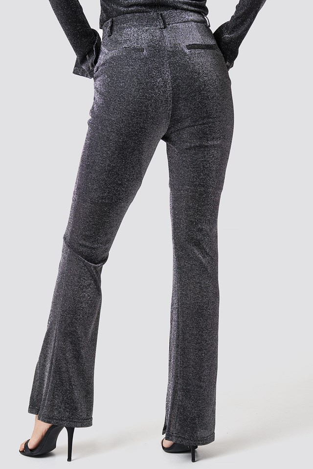 Sparkly Flared Pants NA-KD.COM
