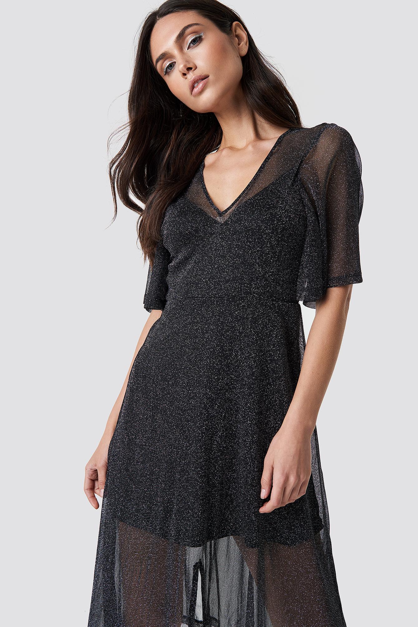 Sparkly Midi Dress NA-KD.COM