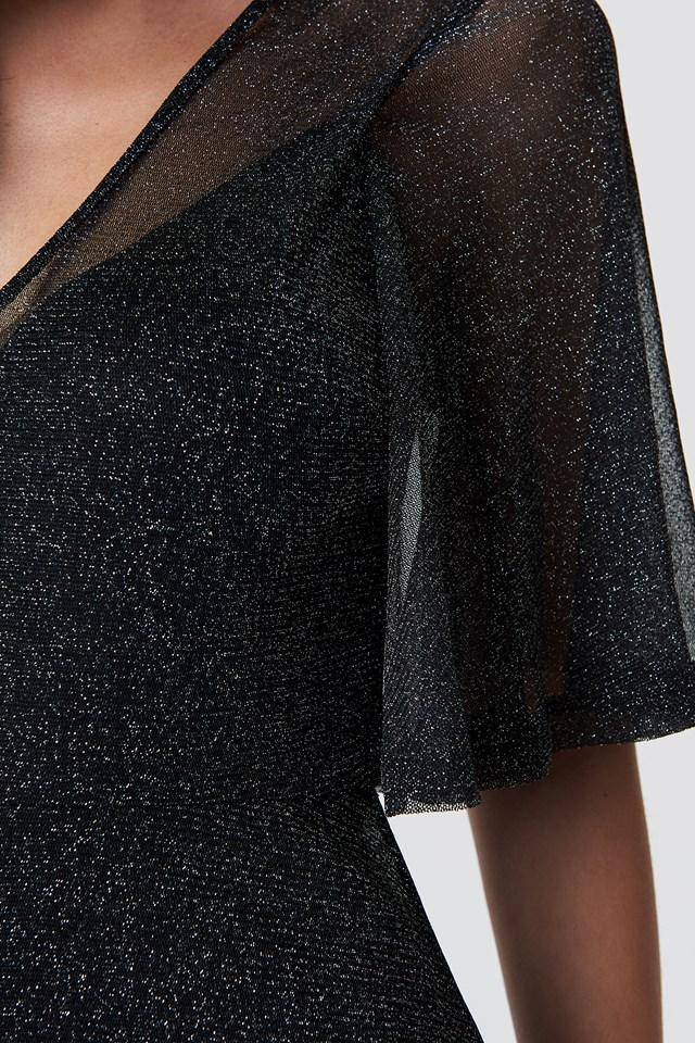 Sparkly Midi Dress Black