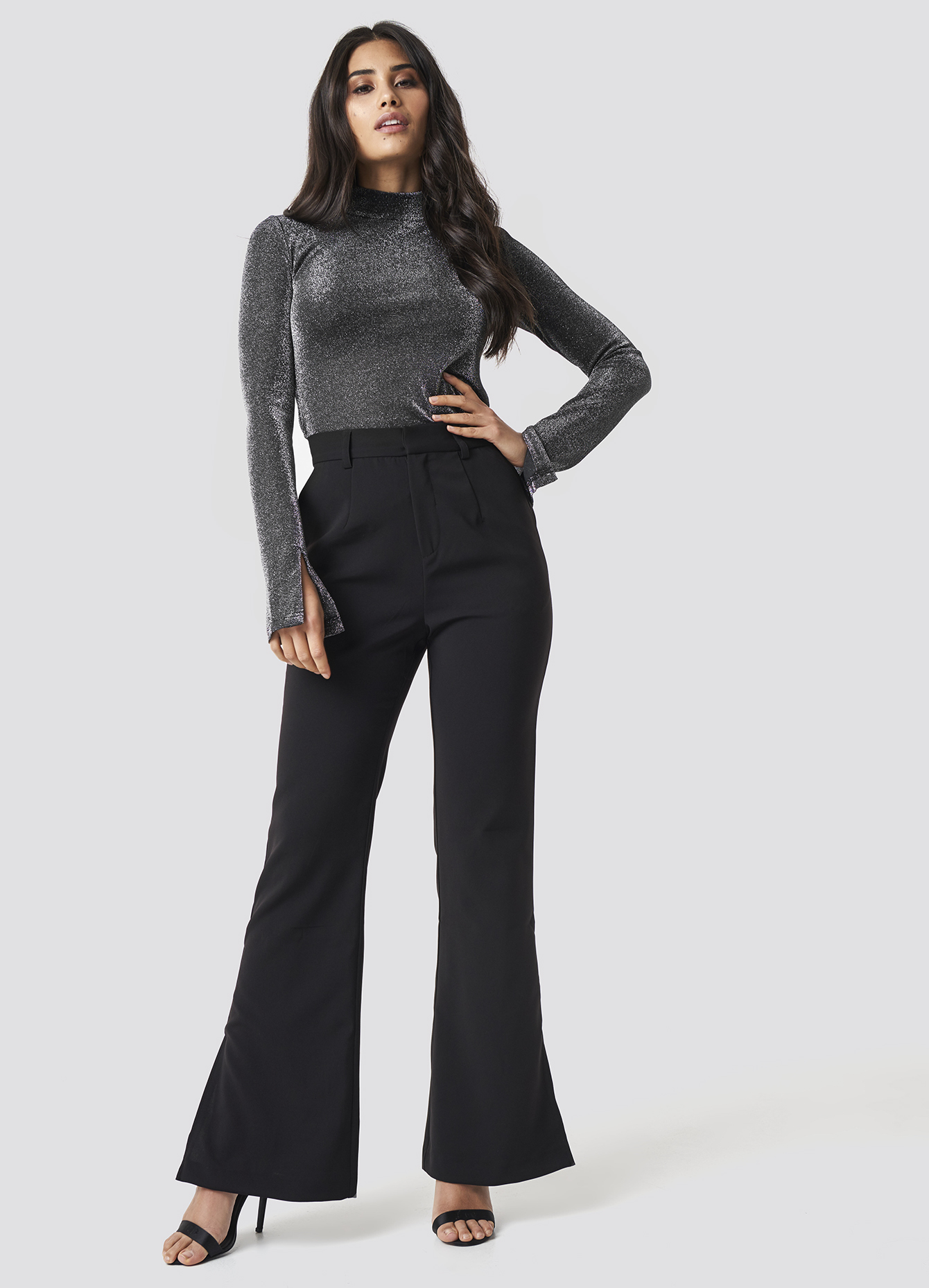 Trendyol High Waisted Wide Leg Pants - Red