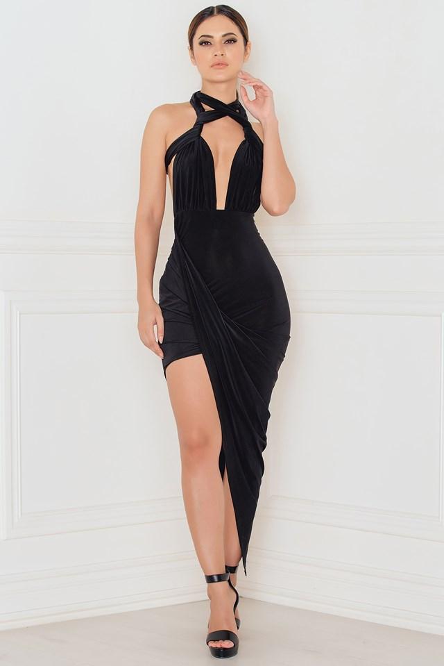 Do It Your Way Turn Up Dress Black