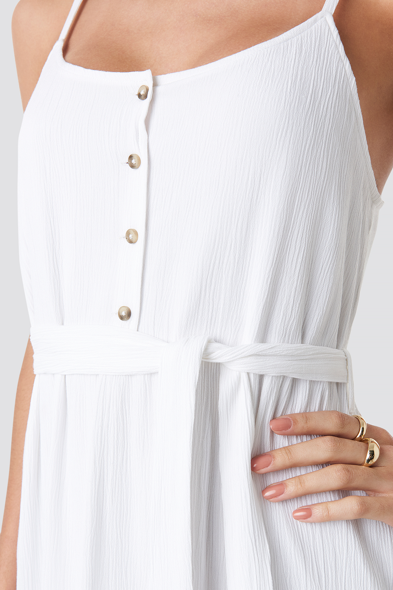 Crochet Detail Midi Dress NA-KD.COM