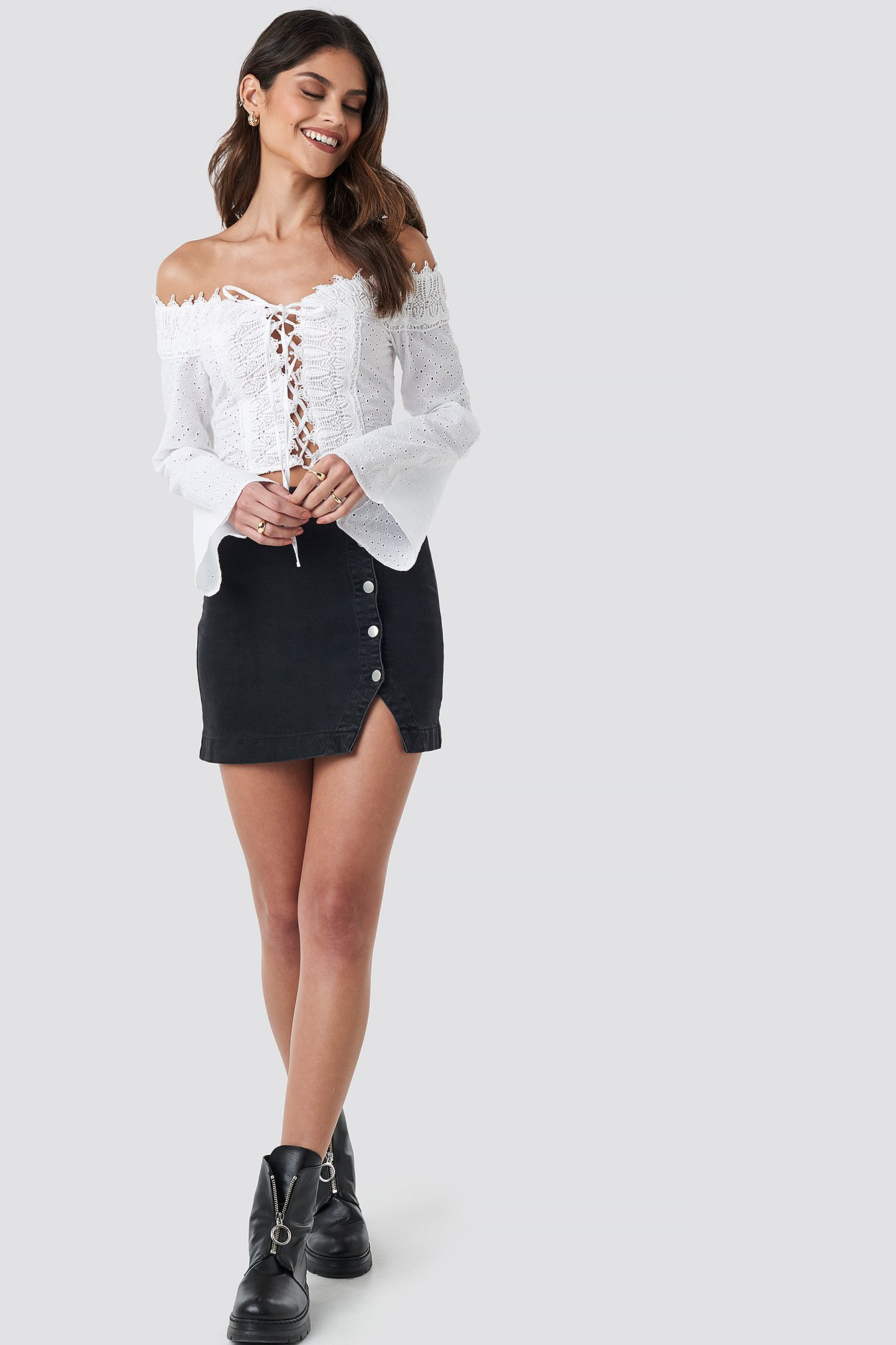Front Tied Crochet Blouse NA-KD.COM