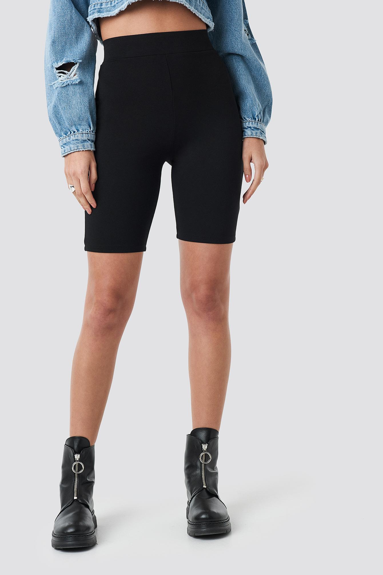 Highwaist Slim Jersey Shorts NA-KD.COM