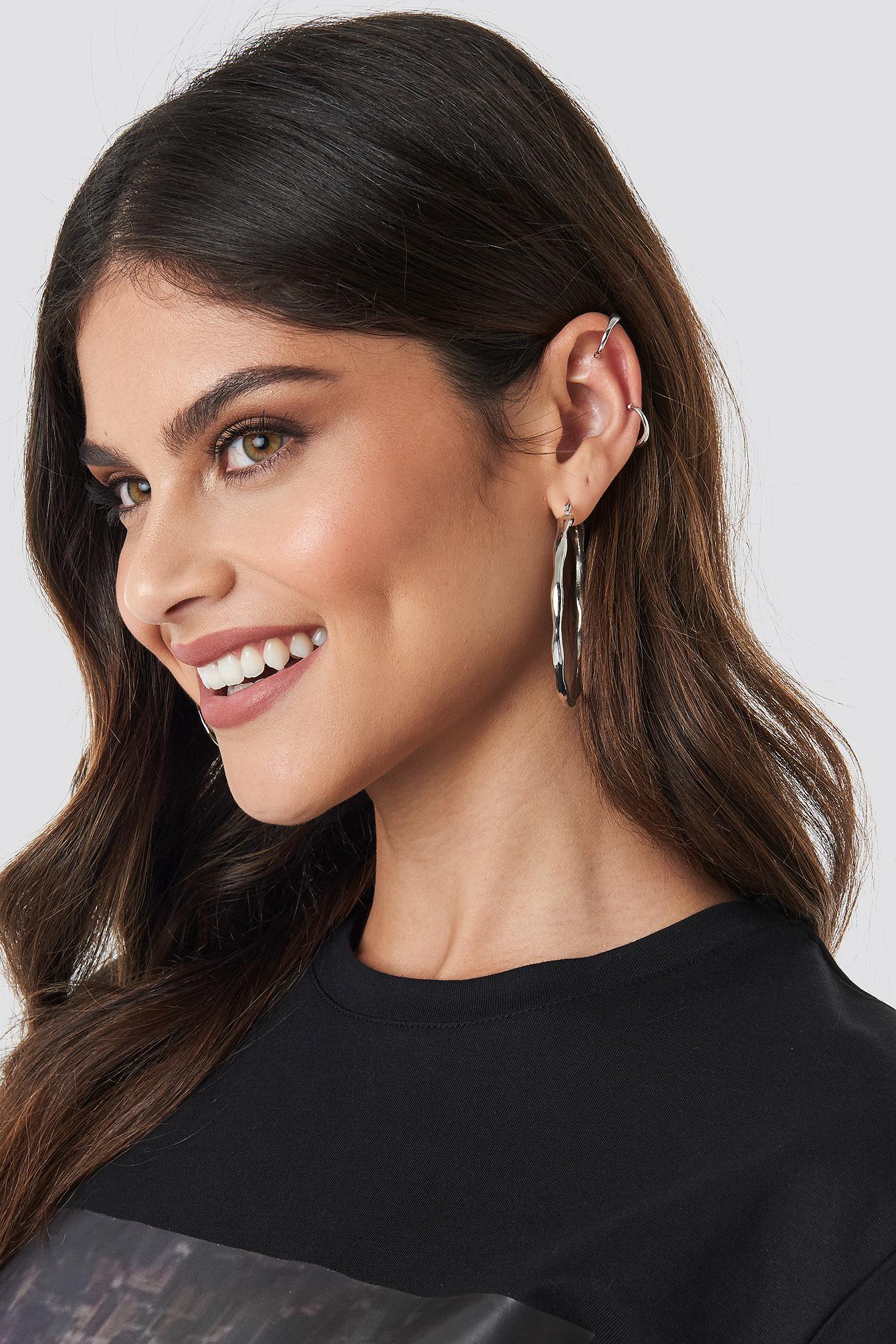 Round Flowy Earrings Set NA-KD.COM