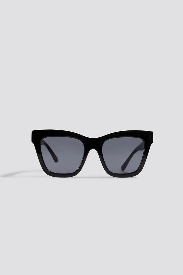 Square Shape Chunky Sunglasses Black