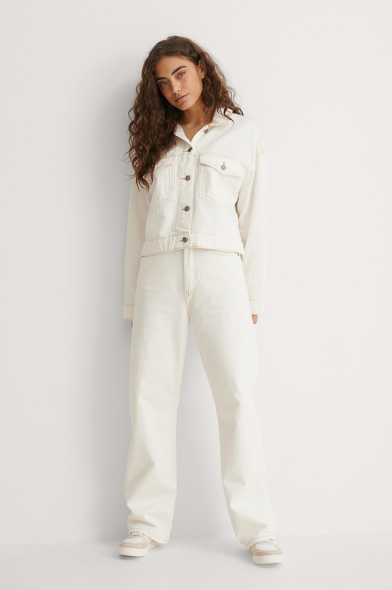 Dr Denim Jeans - Offwhite