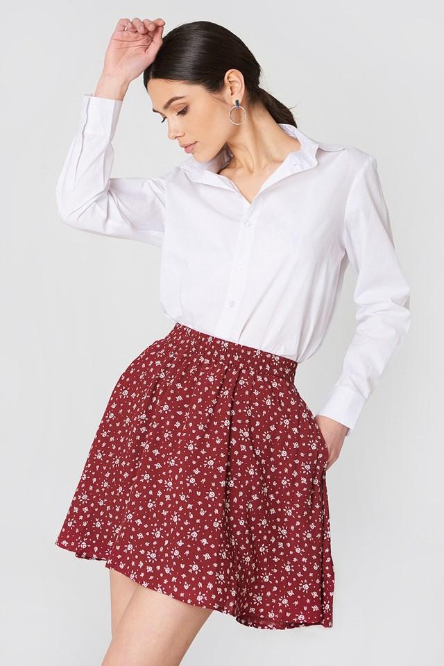 Gena Skirt Red Floral