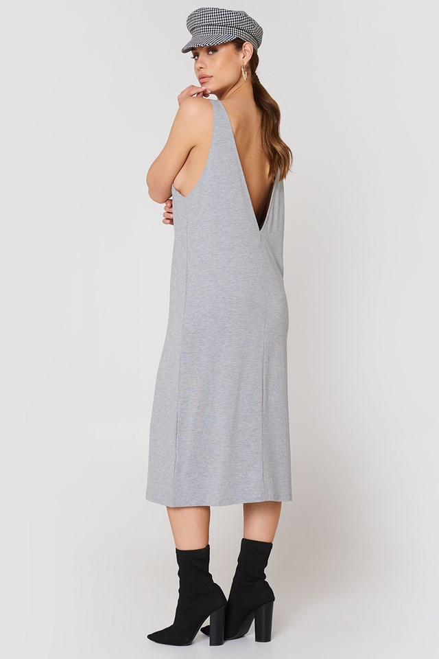 Natalia Dress Light Grey Mix